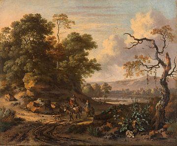 Landschap met ezelrijder, Jan Wijnants