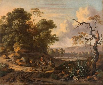 Landscape with a Man Riding a Donkey, Jan Wijnants sur
