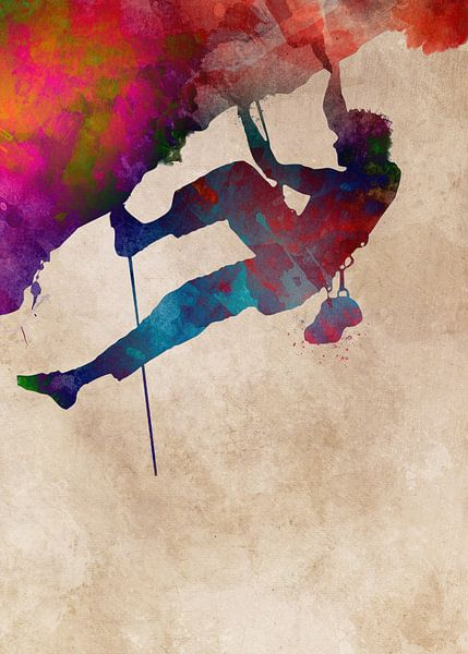Bergsteiger 4 Klettern Sport Kunst #Bergsteiger #Klettern #Sport von JBJart Justyna Jaszke