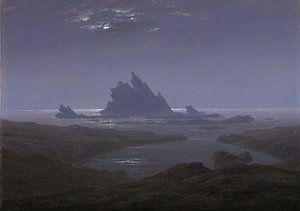 Caspar David Friedrich - Rotsrif op het strand van