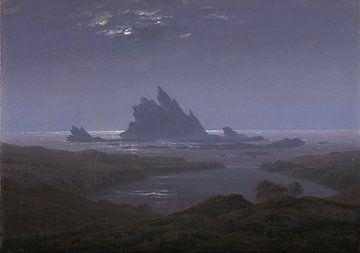 Caspar David Friedrich - Rock reef on the beach sur