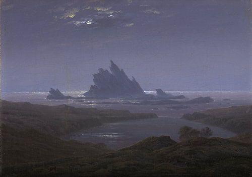 Caspar David Friedrich - Rotsrif op het strand van 1000 Schilderijen