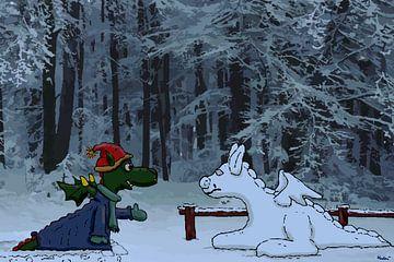 Draak ontmoet Sneeuwdraak van HEUBEERE Cartoons