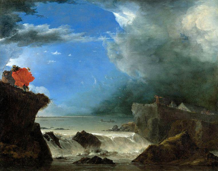 Der Bruch des Sankt-Antonius-Deiches bei Amsterdam, Jan Asselijn von Meesterlijcke Meesters