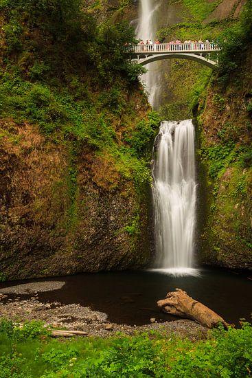 Multnomah watervallen in de Columbia river gorge