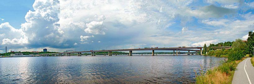 Lidingöbrücke in Stockholm von Leopold Brix
