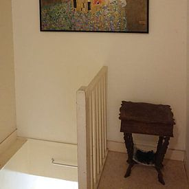 Klantfoto: De Kus van Gustav Klimt, op canvas