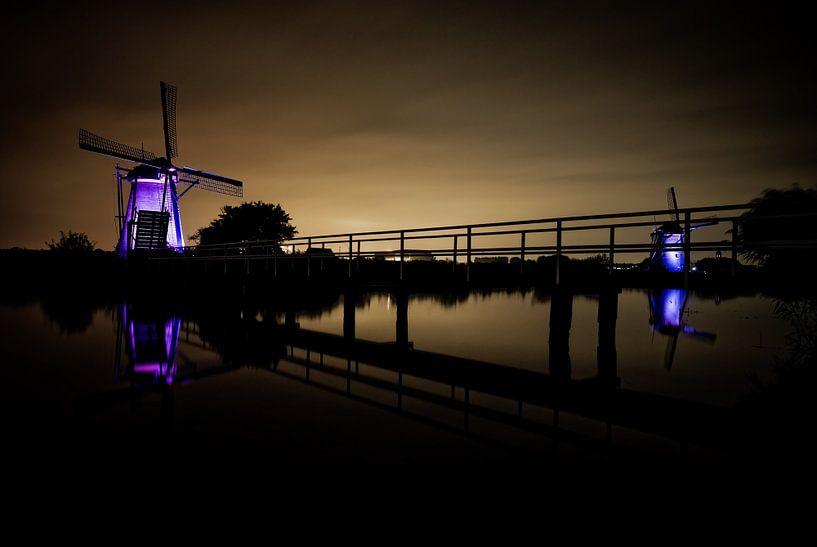 Windmills at Kinderdijk sur Mike Fortgens