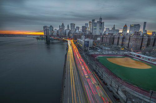 New York Sunset van Rene Ladenius