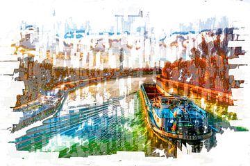 Am Rhein Herne Kanal Ruhrgebiet von Johnny Flash