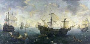 The Spanish Armada off the English coast, by Cornelis Claesz van