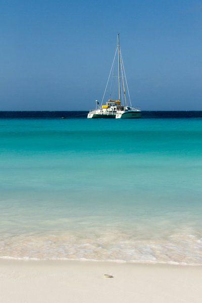 Catamaran bij klein Curacao no. 1 van Arnoud Kunst
