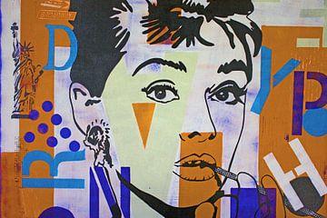"""Audrey Hepburn """"Freiheit"""" von Kathleen Artist Fine Art"""
