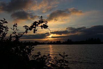 Zonsondergang, sunset. von Anja Kok