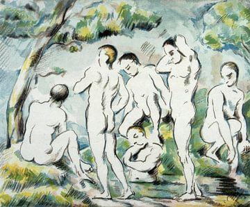 Paul Cézanne, Schwimmer - 1897