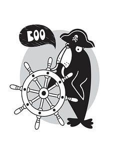 Kinderkamer Zwart Wit - Sea Adventure Boo