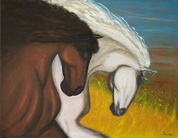 Paarden plezier sur Jan Wiersma
