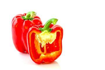 Gemüse isoliert auf weißem Hintergrund von Carola Schellekens
