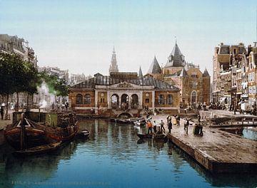 Vismarkt en Waag, Amsterdam von Vintage Afbeeldingen