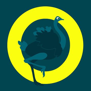 O is an Ostrich van Studio Mattie