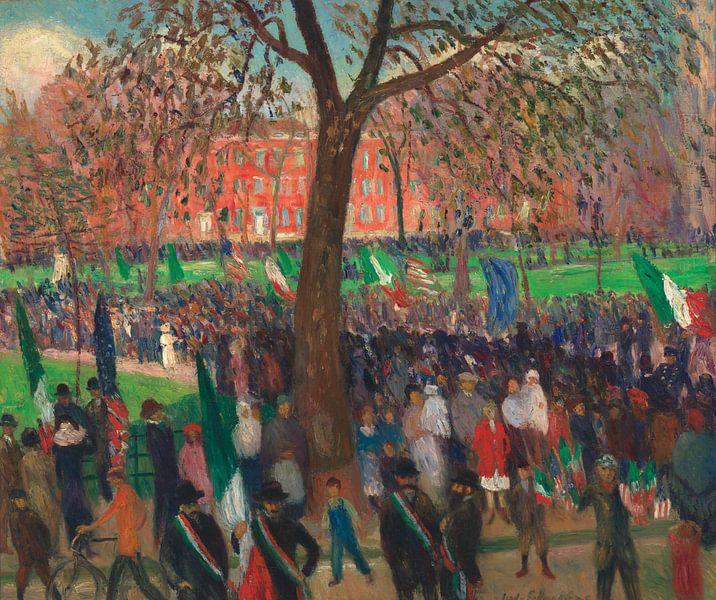 William-Glackens-Parade, Washington Square von finemasterpiece