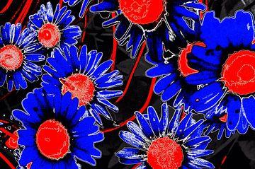 Blumen in Rot & Blau von De Rover