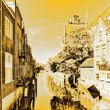 Innenstadt von Dordrecht Niederlande Gold von Hendrik-Jan Kornelis