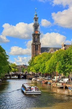 Westerkerk rondvaartboot Amsterdam sur