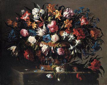 Kleiner Blumenkorb, Juan de Arellano von Meesterlijcke Meesters