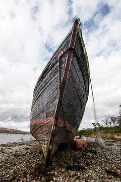 Verlassenes Boot in Schottland von Digitale Schilderijen