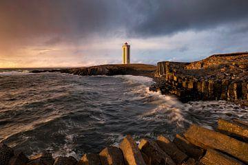 Kalfshamersvik Leuchtturm von Ben van Boom