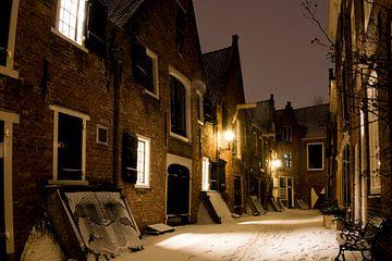 De Kuiperspoort Middelburg in de sneeuw van Robbert De Reus
