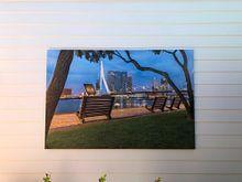 Klantfoto: Open Erasmusbrug op vroege ochtend Rotterdam van Prachtig Rotterdam, op canvas