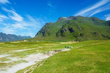 Utakleiv Beach auf den Lofoten in Norwegen von Rico Ködder