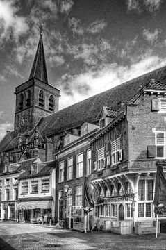 Stadscafé In den Groote Slock historisch Amersfoort zwartwit von Watze D. de Haan