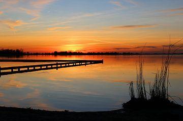 Zonsondergang aan het Schildmeer van Arline Photography