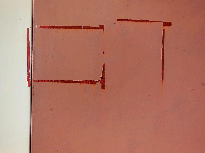 Garda, Italy (detail, rusty stripes) van Rüdiger Hirt