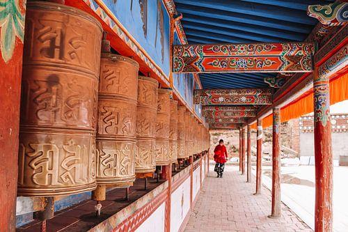 Tibetaanse gouden gebedsrollen
