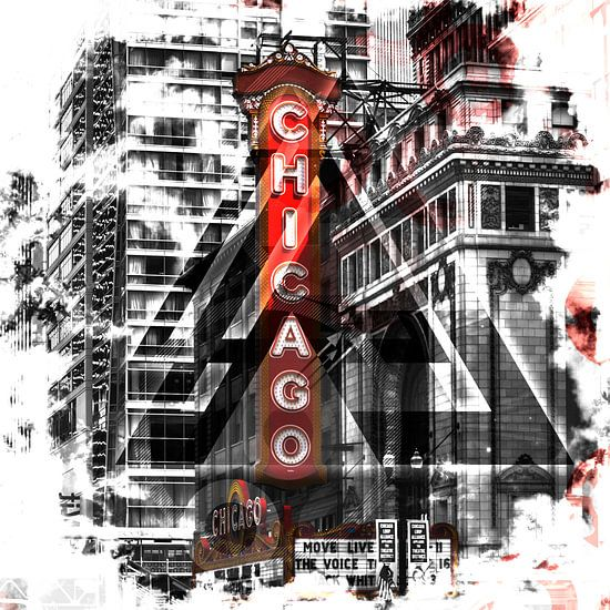 Chicago | Geometric Mix No. 2 van Melanie Viola