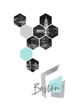 Design urbain BOSTON la nuit sur Melanie Viola