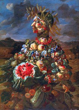 Lo Spadino, een antropomorfe allegorie van de zomer - deel van vierluik van Atelier Liesjes