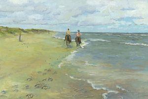 Paardrijden op strand