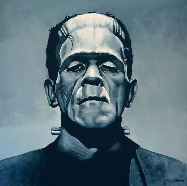 Boris Karloff alias Frankenstein schilderij van Paul Meijering