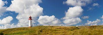 Panoramafoto Leuchtturm List West am Ellenbogen, Sylt, von Markus Lange