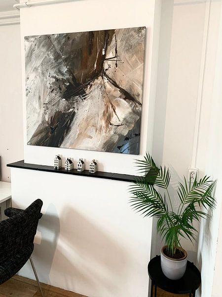 Klantfoto: Abstrakt Nr. 7 van Katarina Niksic, op canvas