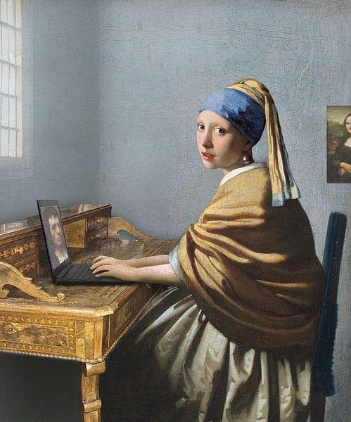 Liebesbrief an Johannes Vermeer (Collage) von Jerome Coppo