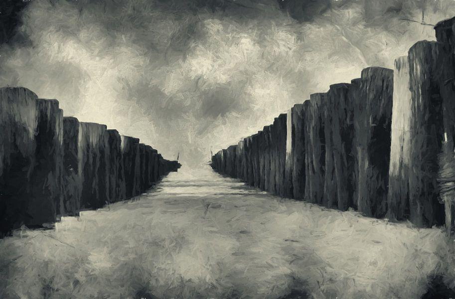 clouds in black&white van Yvonne Blokland