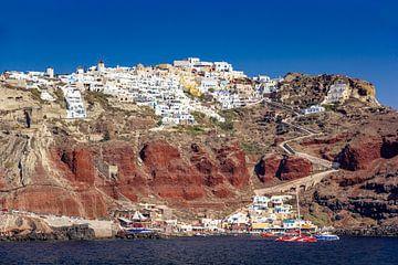 Uitzicht op Santorini, Griekenland van Adelheid Smitt