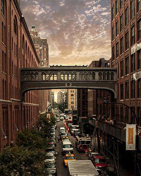 New York sunset 15th street van Pepijn Knoflook