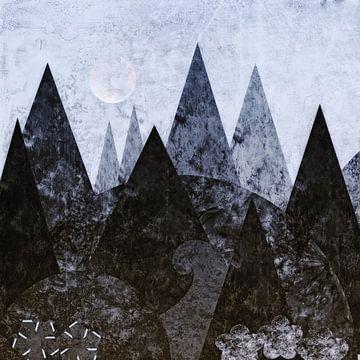 Waldnacht - abstrakt van Christine Nöhmeier